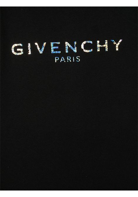 T-shirt nera GIVENCHY KIDS | T-SHIRT | H1519909B