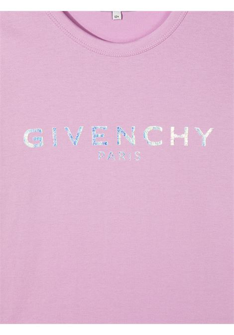 T-shirt lilla GIVENCHY KIDS | T-SHIRT | H15199T929
