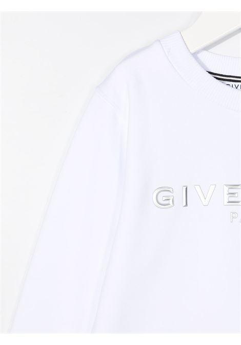 Felpa bianca GIVENCHY KIDS | MAGLIONE | H2524110B