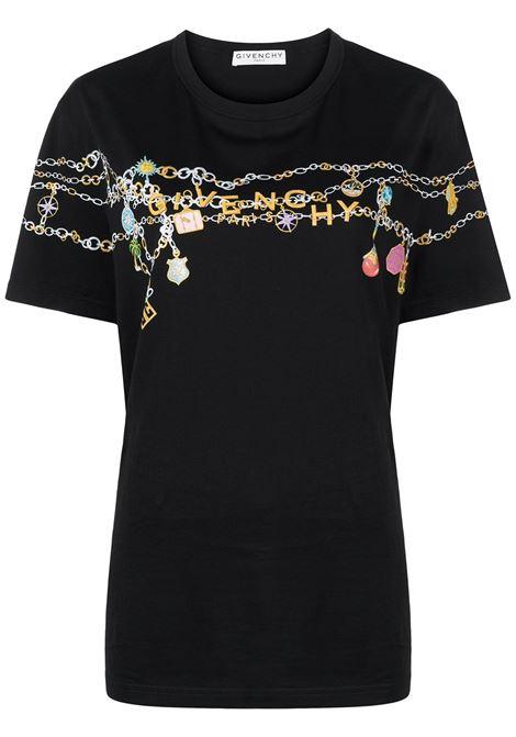 T-shirt nera GIVENCHY | BW707Z3Z4Q001