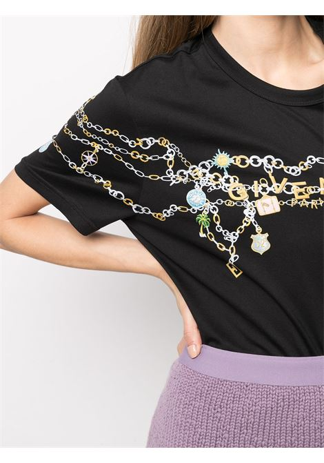 T-shirt nera GIVENCHY | T-SHIRT | BW707Z3Z4Q001