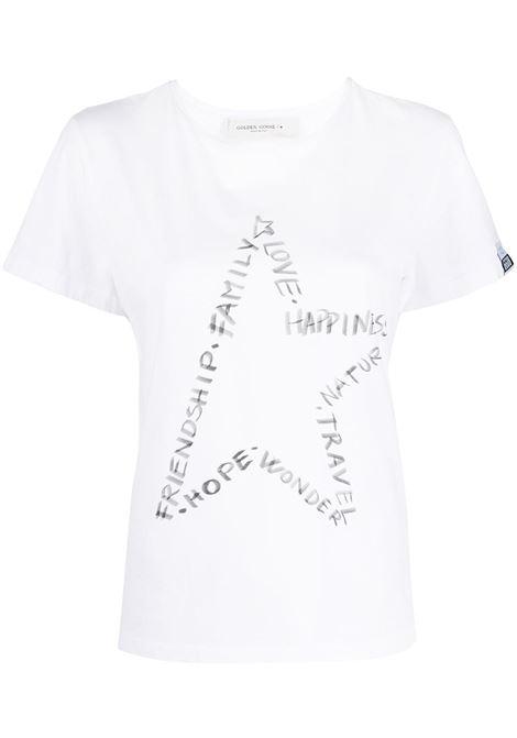 T-shirt bianca GOLDEN GOOSE | T-SHIRT | GWP00745P00045210546