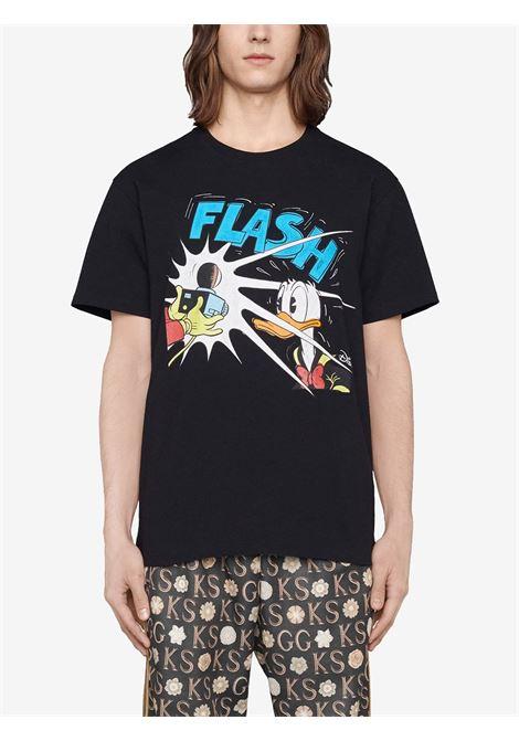 Black t-shirt GUCCI | 548334XJDAF1082