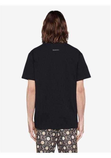 T-shirt nera GUCCI | T-SHIRT | 548334XJDAF1082