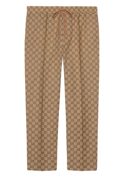 Beige trousers GUCCI | 569769ZKU092580