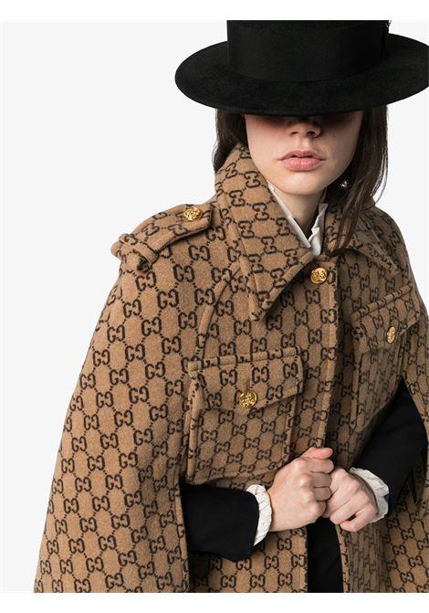 Brown wool cape GUCCI | CLOAK | 610488XKA5U9751