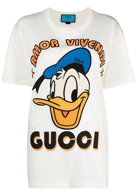 T-shirt bianco GUCCI | T-SHIRT | 615044XJDBJ9088