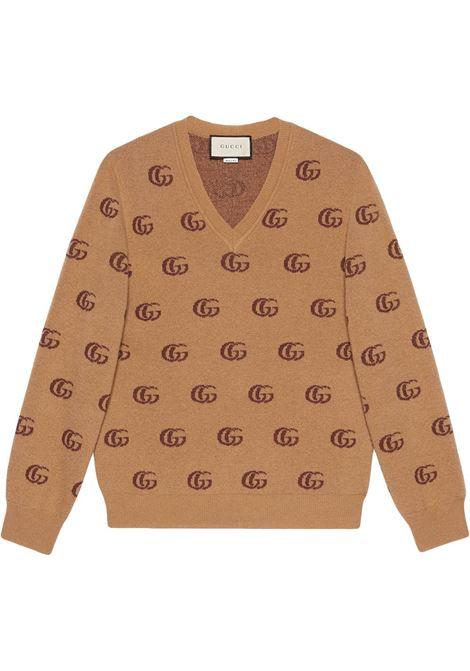 Maglione marrone GUCCI | MAGLIE | 645292XKBPF8011