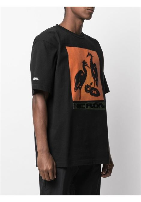 Black t-shirt HERON PRESTON |  | HMAA020R21JER0031020