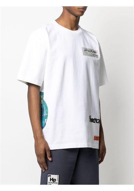 T-shirt bianca HERON PRESTON | T-SHIRT | HMAA026S21JER0010140