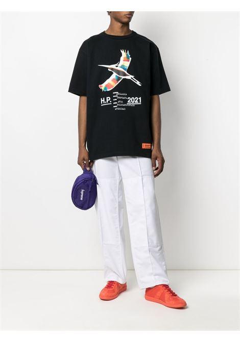 T-shirt nera HERON PRESTON | T-SHIRT | HMAA026S21JER0021001