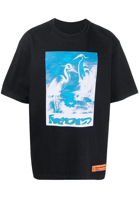 Black t-shirt HERON PRESTON |  | HMAA026S21JER0061040
