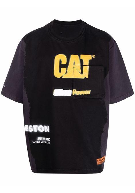 T- shirt nera HERON PRESTON | T-SHIRT | HMAA028S21JER0011018