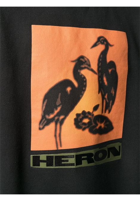 Black sweatshirt HERON PRESTON |  | HMBA014R21JER0011020