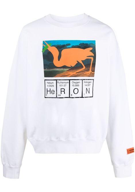 White sweatshirt HERON PRESTON |  | HMBA016S21JER0010120
