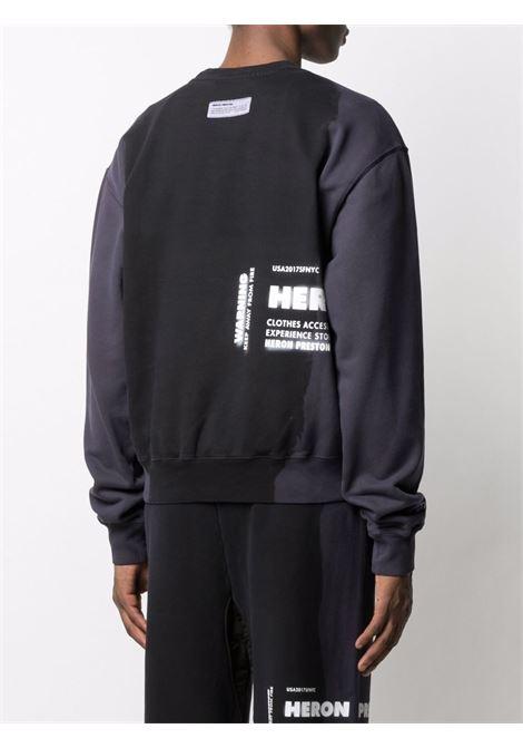Black sweatshirt HERON PRESTON |  | HMBA016S21JER0051018