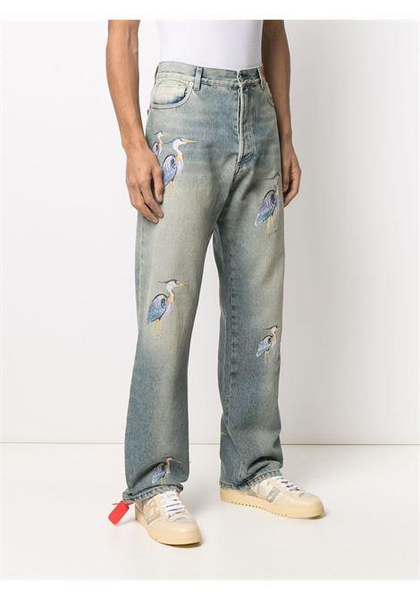 Pantalone blu HERON PRESTON | PANTALONI | HMYA011R21DEN0014040