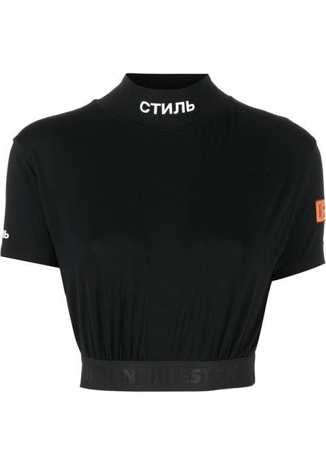 Black t-shirt HERON PRESTON | HWAA029R21JER0011001