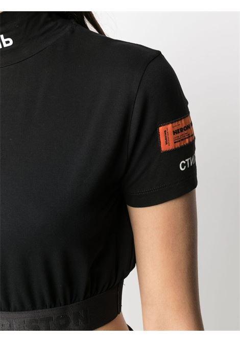 T-shirt nera HERON PRESTON | T-SHIRT | HWAA029R21JER0011001