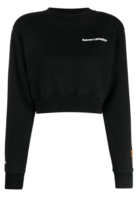 Black sweatshirt HERON PRESTON | HWBA008R21JER0011001