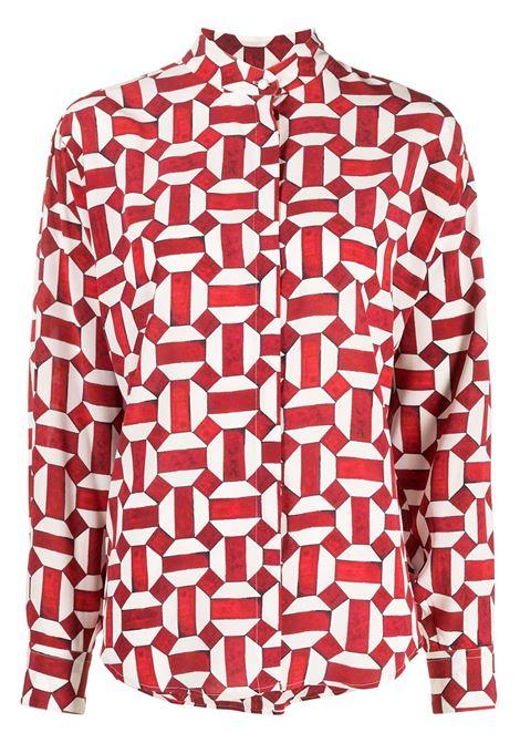Blusa rossa/bianca ISABEL MARANT | BLUSE | HT158621P021I70RD