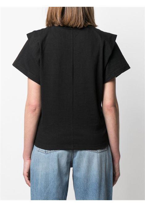 T-shirt nera ISABEL MARANT | T-SHIRT | TS078021P027I01BK