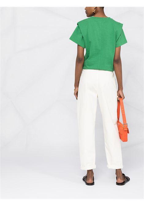 T-shirt verde ISABEL MARANT | T-SHIRT | TS078021P027I60GR