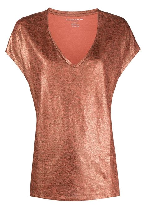 T-shirt arancione MAJESTIC | E20M062FTS159752