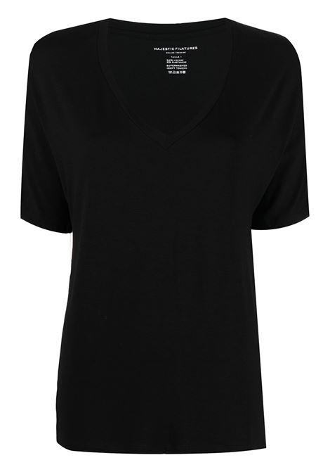 T-shirt nero MAJESTIC | E21M001FTS572002