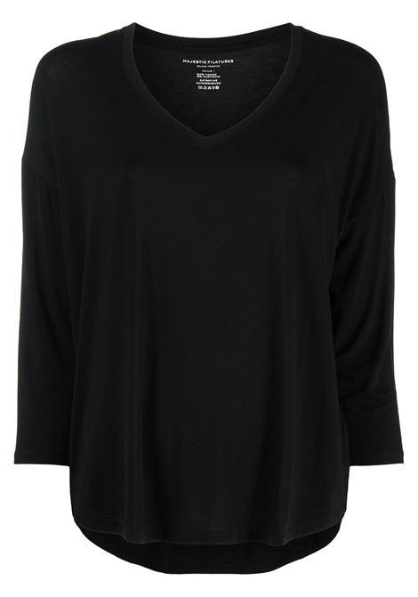 T-shirt nera MAJESTIC | E21M002FTS195002