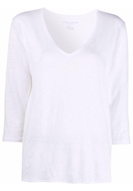 T-shirt bianco MAJESTIC   T-SHIRT   E21M011FTS598001