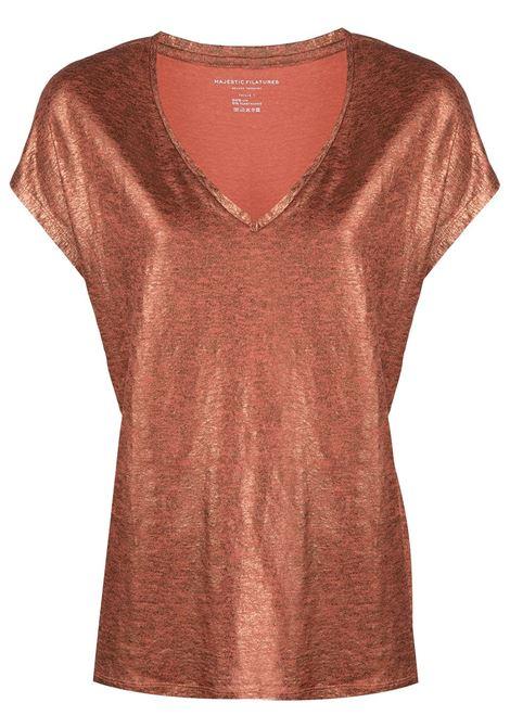 T-shirt arancione MAJESTIC | E21M062FTS159752