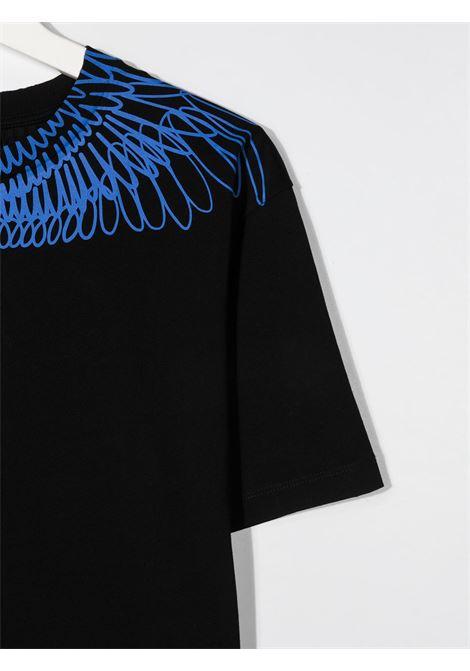 T-shirt nera MARCELO BURLON KIDS | T-SHIRT | 11000010TB010