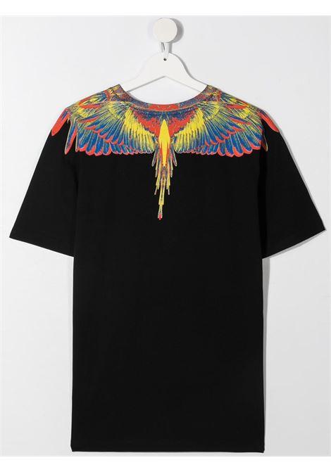 T-shirt nera MARCELO BURLON KIDS | T-SHIRT | 11090010TB010