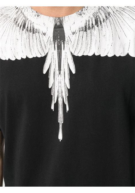 T-shirt nera MARCELO BURLON | T-SHIRT | CMAA018R21JER0011001