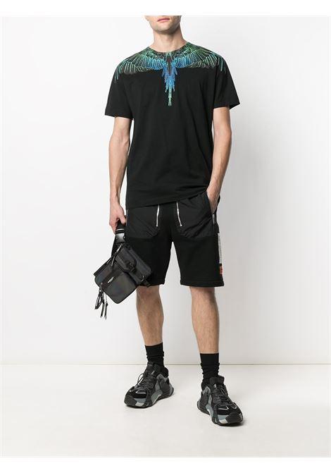 Black t-shirt MARCELO BURLON   CMAA018R21JER0011069