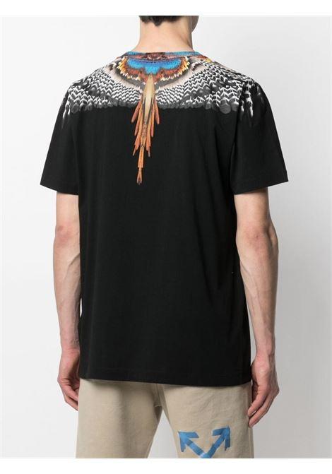 Black t-shirt MARCELO BURLON | T-SHIRT | CMAA018S21JER0021020