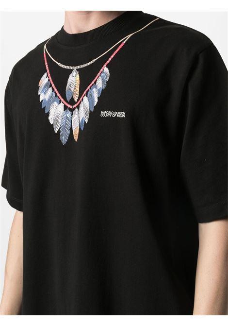 T-shirt nera MARCELO BURLON | T-SHIRT | CMAA054S21JER0021045
