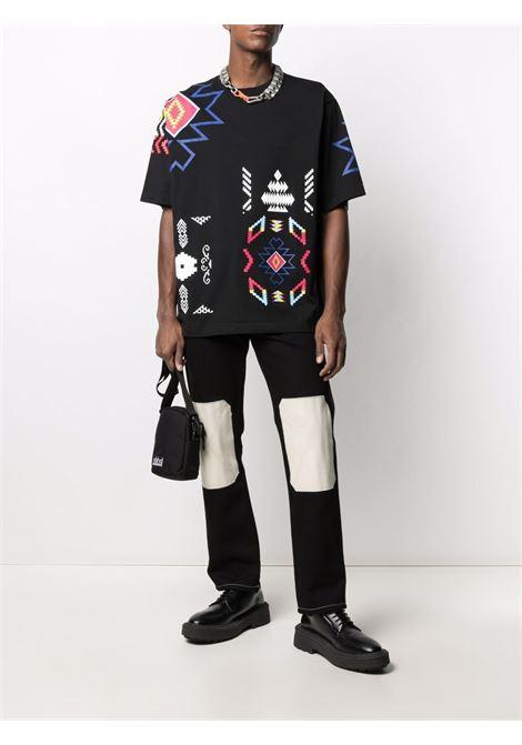 T-shirt nera MARCELO BURLON | T-SHIRT | CMAA054S21JER0031084