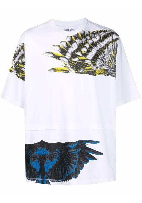 T-shirt bianca MARCELO BURLON | T-SHIRT | CMAA076S21JER0010109