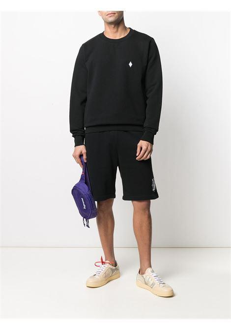 Black sweatshirt MARCELO BURLON   CMBA009R21FLE0031001