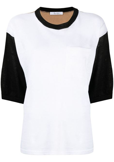 Maglia bianco/nera MAX MARA | 13610212600080009