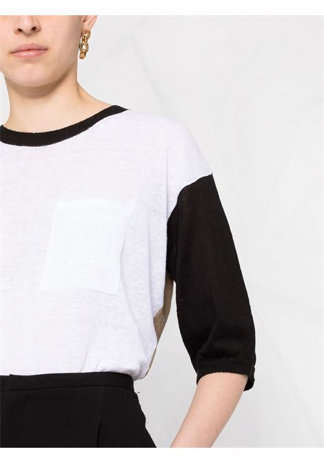 White/black jumper MAX MARA | JERSEYS | 13610212600080009