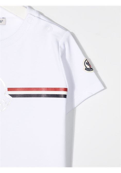 T-shirt bianca MONCLER ENFANT | T-SHIRT | 8C71700B8392E002