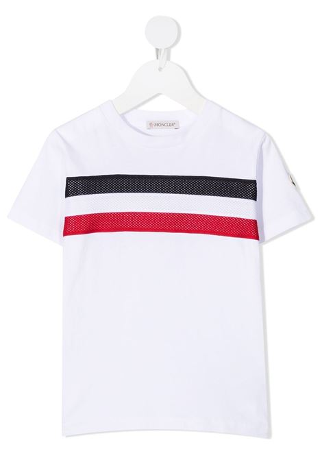 T-shirt bianca MONCLER ENFANT | T-SHIRT | 8C7432083907001