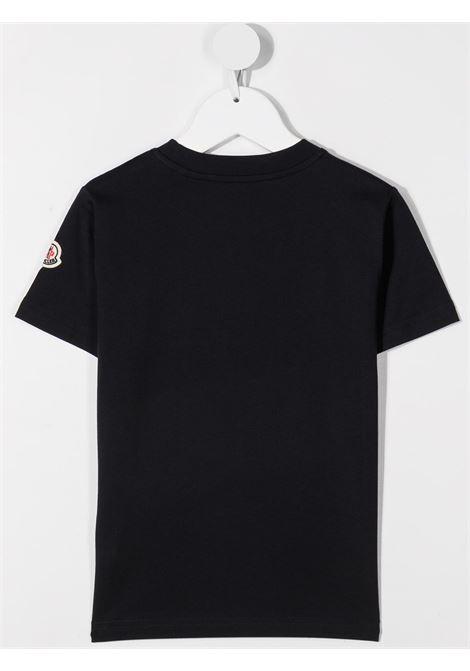 T-shirt nera MONCLER ENFANT | T-SHIRT | 8C7432083907742