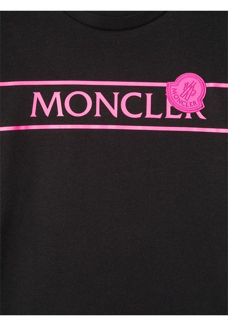 T-shirt nera MONCLER ENFANT | T-SHIRT | 8C7441083907999