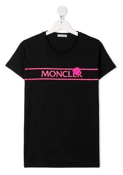 T-shirt nera MONCLER ENFANT | T-SHIRT | 8C74410T83907999