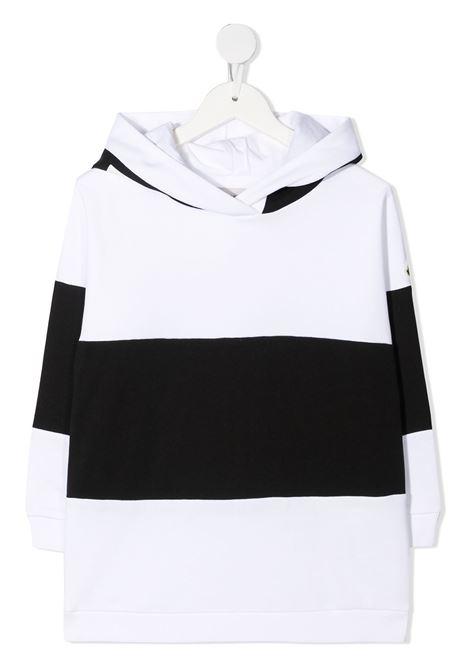 Felpa bianca/nera MONCLER ENFANT | FELPE | 8G74910809AG090