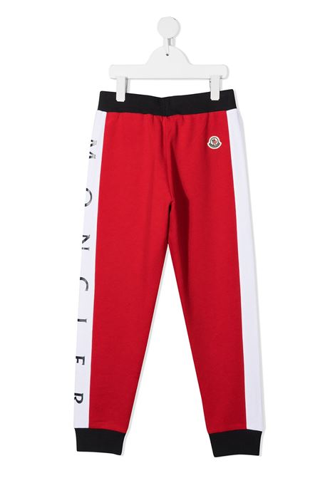 Pantalone rosso/blu MONCLER ENFANT | PANTALONI | 8H74120809AG742